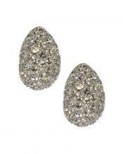 Pendientes pequeños con cristales blancos de plata rodinada