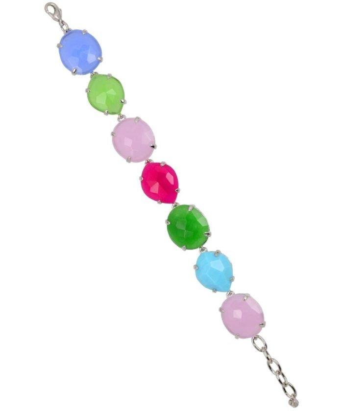 Pulsera Alegría con siete piedras naturales en diversos colores